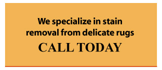We specialize in stain removal from delicate rugs - Call Today