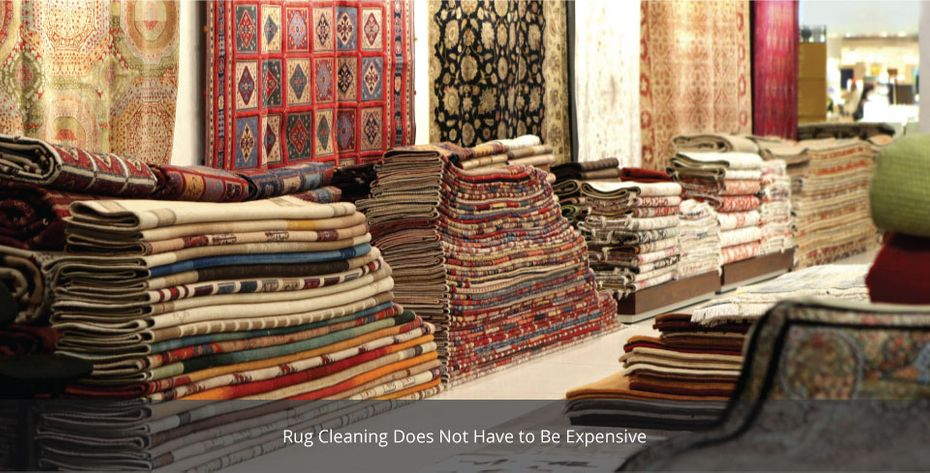 New Way Carpet Cleaning Inc - rugs in showroom